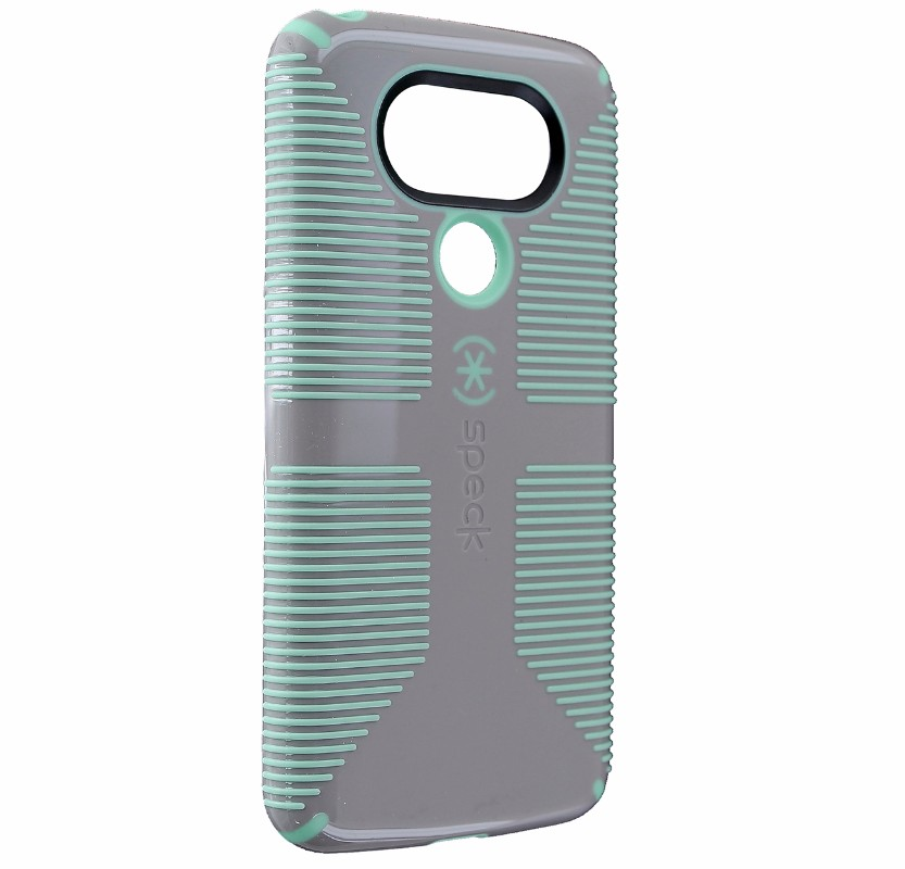 Speck CandyShell Grip Series Hybrid Hard Case for LG G5 - Gray / Cyan Green