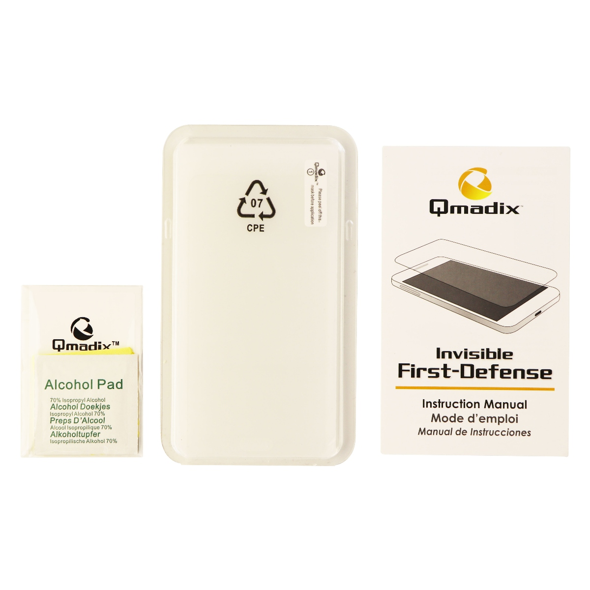 Qmadix Invisible First Defense Tempered Glass Screen Protector for Galaxy On5
