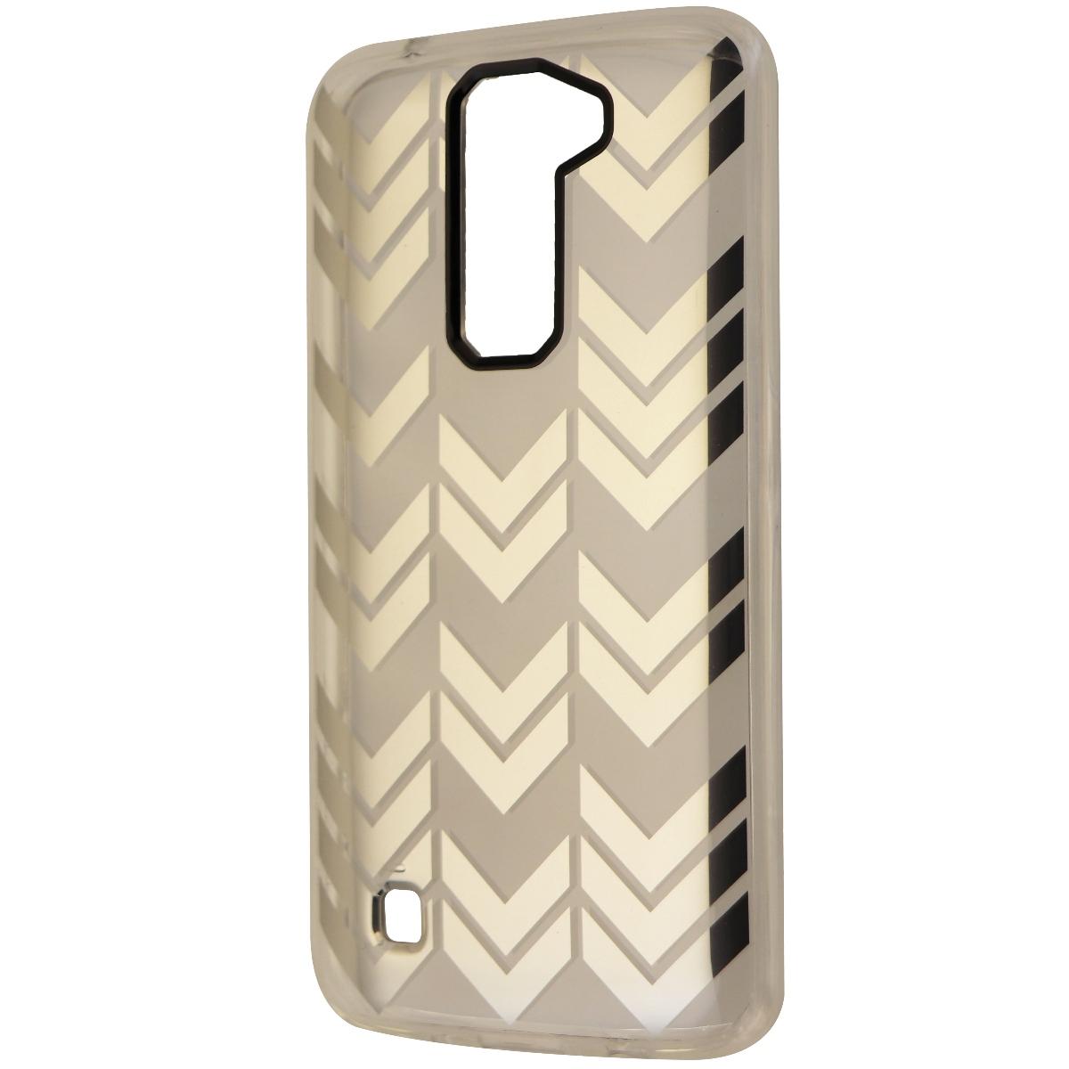 Incipio Design Series Hybrid Hard Case Cover for LG K7 - Clear/Silver Arrows
