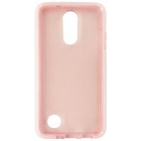 Tech21 Evo Check Series Flexible Gel Case for LG K8 (2017) Pink Rose Tint/White