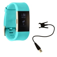 Fitbit Charge 2 Series Heart Rate and Fitness Wristband Watch - Teal / Small