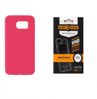 Insignia Hot Pink Case + Gadget Guard Screen Protector for Samsung Galaxy S6