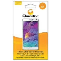 Qmadix Screen Protector for Samsung Note 4 - 3-pack - Clear