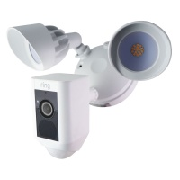 Ring Flood Light Cam Motion Activated Camera & Floodlight with Speaker - White