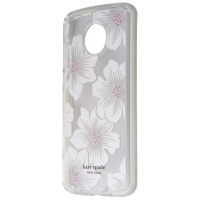 Kate Spade New York Defensive Hardshell Case for Moto Z4 - Hollyhock Floral