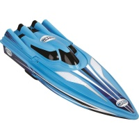Sharper Image Battery Operated RC Boat Racer Speedboat with 80 ft Remote - Blue