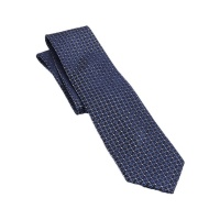 Croft & Barrow Navy Alton Medallion Neck Tie - Blue