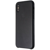 Apple Leather Case for iPhone Xs (5.8 Inch) - MRWM2ZM/A - Black