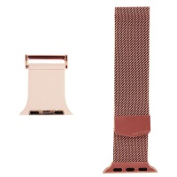 X-Doria Hybrid Mesh Metal Band for 38 and 40mm Apple Watch 4 / 3 / 2 - Rose Gold
