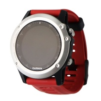 Garmin Fenix 3 - Silver (Red Band) Bundle with Heart Rate Monitor (010-01338-15)