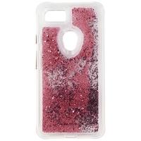 Case-Mate Waterfall Series Liquid Glitter Case for Google Pixel 3 XL - Rose Gold