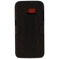 Verizon Shell and Holster w/ Kickstand for Galaxy J3 Eclipse/Mission - Black