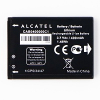 Alcatel OEM Rechargeable 400mAh Li-ion Battery (CAB0400000C1) 3.7V