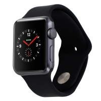 Apple Watch (A1553) w/ Black Band Space Gray - 38mm Aluminum Smartwatch