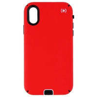 Speck Presidio Sport Series Case for Apple iPhone XR - Matte Red / Black