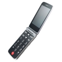 Jitterbug Flip Cell Phone for Seniors (4043SJ6GRY) GreatCall Pre-Paid - Graphite