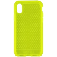 Tech21 Evo Check Gel Case for Apple iPhone Xs and iPhone X - Neon Yellow
