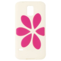 Agent 18  FlowerVest Silicone Case for Samsung Galaxy S5 - White / Pink Flower