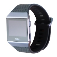 Fitbit Ionic GPS Smart Watch, Charcoal/Smoke Gray, One Size (S&L Bands Included)