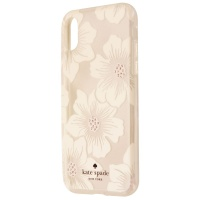 Kate Spade Flexible Hardshell Case for iPhone X 10 - White Jewel Flower