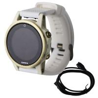 Garmin Fenix 5S Sapphire GPS Smartwatch - Champagne/White with White Band