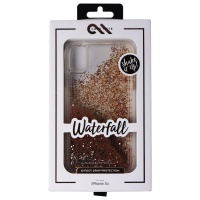 Case-Mate Waterfall Series Liquid Glitter Case for Apple iPhone XR - Gold
