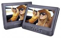Sylvania 10-Inch Dual Screen Portable DVD Player with Remote Control - SDVD1037