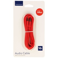 Insignia Universal 10-Foot Audio Cable with 3.5mm Connectors - Pink