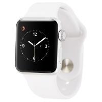 Apple Watch Sport Smartwatch (38mm) A1553 Silver Aluminum/White Sport Band