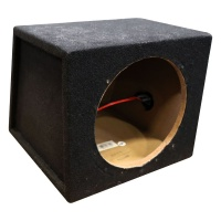 Metra 10 Inch Single Sealed Subwoofer Enclosure - Charcoal (TCBX-110)
