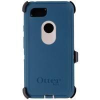 Otterbox Defender Case for Google Pixel 3 XL-Big Sur (Pale Beige/Corsair) (Blue)