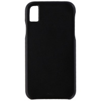 Case-Mate Barely There Genuine Leather Hard Case for Apple iPhone XR - Black