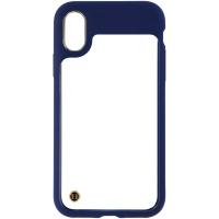 Granite Hybrid Hard Case for Apple iPhone X Smartphones - Clear/Dark Blue