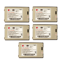 KIT 5x LG 950 mAh Replacement Battery (LGLP-AHGM) for LG Voyager