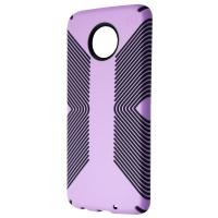Speck Presidio Grip Series Hybrid Case for Moto Z4 - Jelly Purple/Charcoal Grey