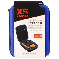 XSories Small Capxule Soft Case with Pre-Cut Foam Inlay for GoPro Cameras - Blue