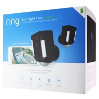 Ring Spotlight Cam Battery HD Cameras with Two-Way Talk & Siren - Black (2 Pack)