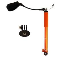 XSories Big U-Shot 37-inch Waterproof Camera Pole with Wrist Tether - Orange