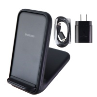 Samsung 15W Fast Charge 2.0 Wireless Charger Stand for Note10/S10/iPhone - Black
