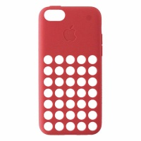 Apple brand Silicone Soft Case for Apple iPhone 5C - Pink / Peach