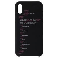My Social Canvas Girl Code Phone Case for iPhone XS / iPhone X - Black