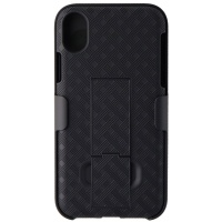 Verizon Shell and Holster Combo for Apple iPhone XR - Black