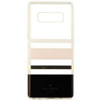 Kate Spade Flexible Hardshell Case for Galaxy Note8 - Pink/Gold/Blk/Clear Stripe