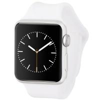 Apple Watch Sport Smartwatch (42mm) A1554 Silver Aluminum/White Sport Band