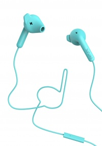 Defunc Go HYBRID D0146 In-Ear Earbud Headphones - Cyan