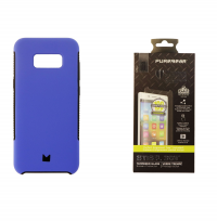 Modal Dual Layer Blue Case with PureGear Screen Protector for Samsung Galaxy S8