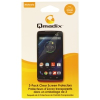 Qmadix Screen Protector 3-Pack for Motorola Droid Turbo - Clear