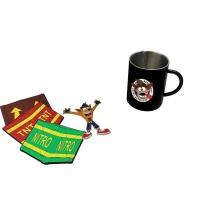 Crash Bandicoot Crash Crate Loot Box w/ Mug, Magnets, Bottle Opener, + Stickers