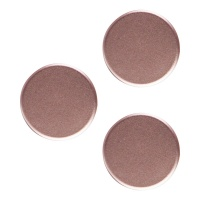 PopSockets PopMini Grips for Phones and Tablets (3 Pack) - Aluminum Rose Gold