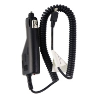 PCD/ACC Coiled Car Charger with Mini USB Connector - Black (CLC-6700)